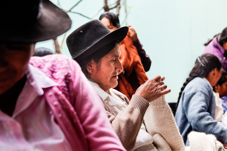 Knitting is part of every day life in Peru.